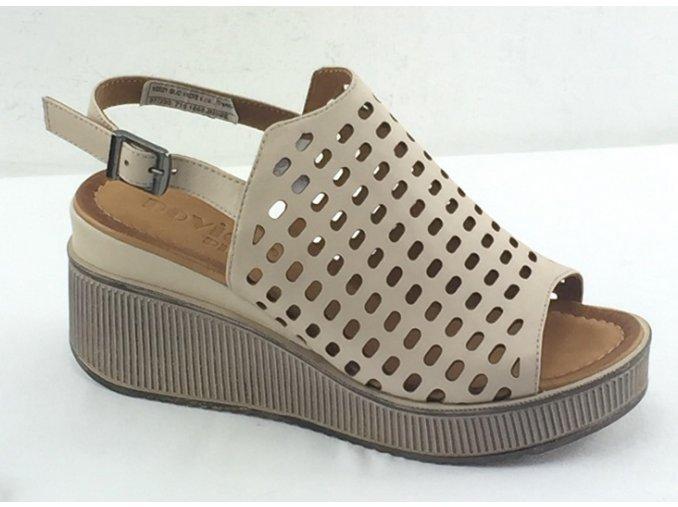 Dámske sandálky na platforme  ROVIGO 710 béžové