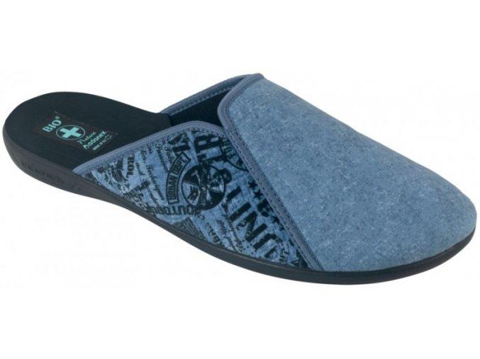 Pánske papuče Adanex BIO 25557 modré