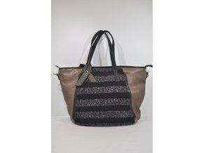 Kombinovaná kabelka v čiernohnedej farbe