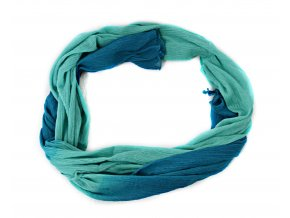 Šatka- šál v modrej dúhovej farbe