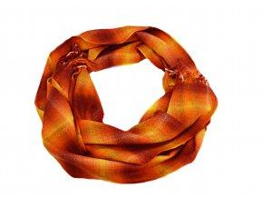 Oranžovo - žltý šál