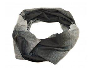 Čierno - sivý šál