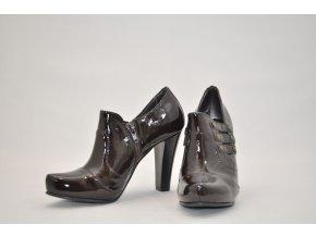 Celokožené členkové topánky Annie Claire hnedé veľ. 36