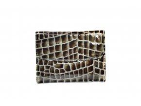 Hnedo-strieborná kroko peňaženka