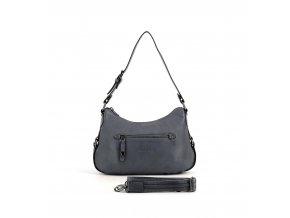 Kožená kabelka v modrej jeans  farbe HEXAGONA 414698