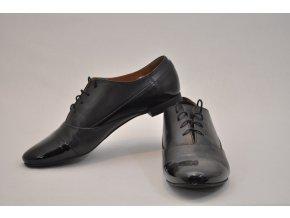 Čierne kožené OXFORD topánky