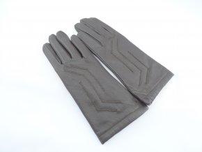 Dámske kožené rukavice tm. hnedé - viac veľkostí