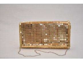 Listová kabelka v zlatej farbe