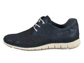 Dámske kožené topánky MARCO TOZZI 2/2-23728 modré