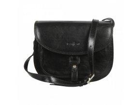 Luxusná kožená crossbody kabelka Gianni Conti čierna