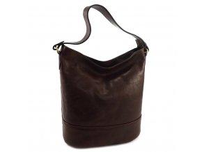 Luxusná kožená kabelka Gianni Conti 9406746 hnedá