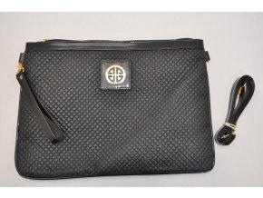 Čierna listová kabelka