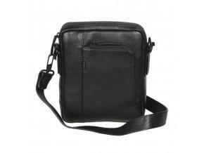Pánska kožená crossbody taška Gianni Conti 1812282 čierna