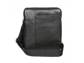 Pánska kožená crossbody taška Gianni Conti 1812280 čierna