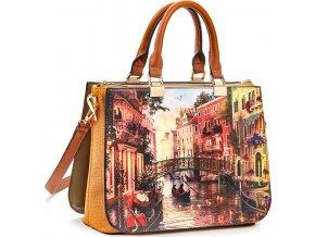 Luxusná kabelka VERDE 16-5411 camel