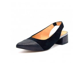 Sandálky s plnou špičkou AGA 07199 čierne