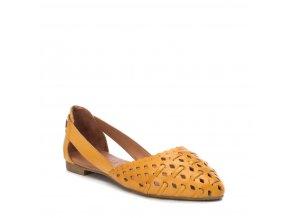 Kožené balerínky CARMELA 67112 žlté