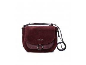 Kožená kabelka CARMELA 86404 bordová