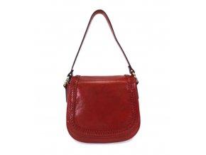 Luxusná kožená kabelka Gianni Conti 9416133 červená