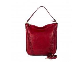 Luxusná kožená kabelka Gianni Conti 9416134 červená
