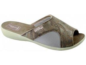 Dámske papuče ADANEX ORTO line 26180 béžové na haluxy