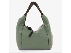 Luxusná dámska kožená kabelka Gianni Conti 2864966 zelená
