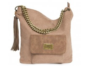 Dámska textilná kabelka TANTREND 04703356 hnedá