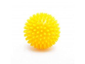 Masážní ježek žlutý, průměr 8 cm