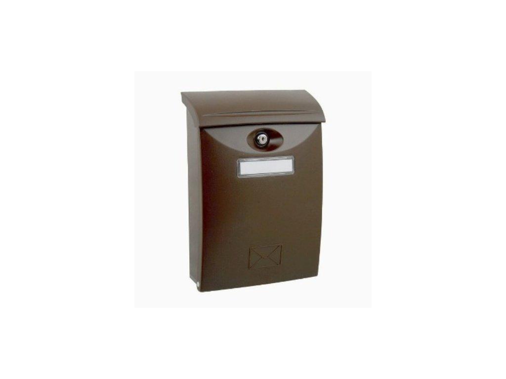 Poštovní schránka ABS plastová hnědá