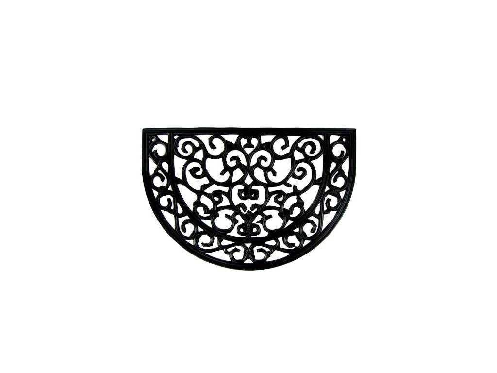 Rohož gumová dekor půlkruh 60cm
