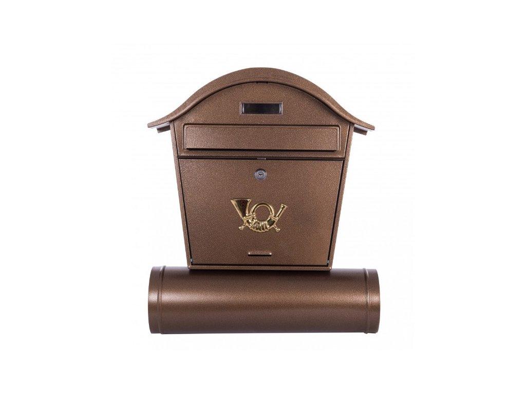 Poštovní schránka ST103 s tubou měď antik