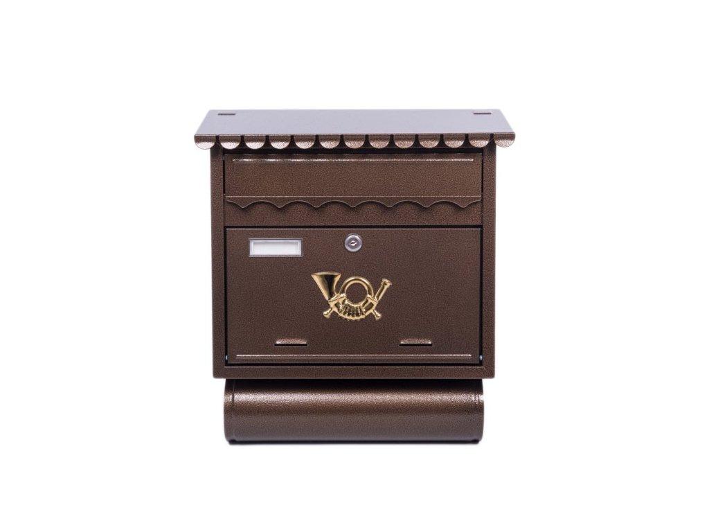 Poštovní schránka ST104 s tubou měď antik