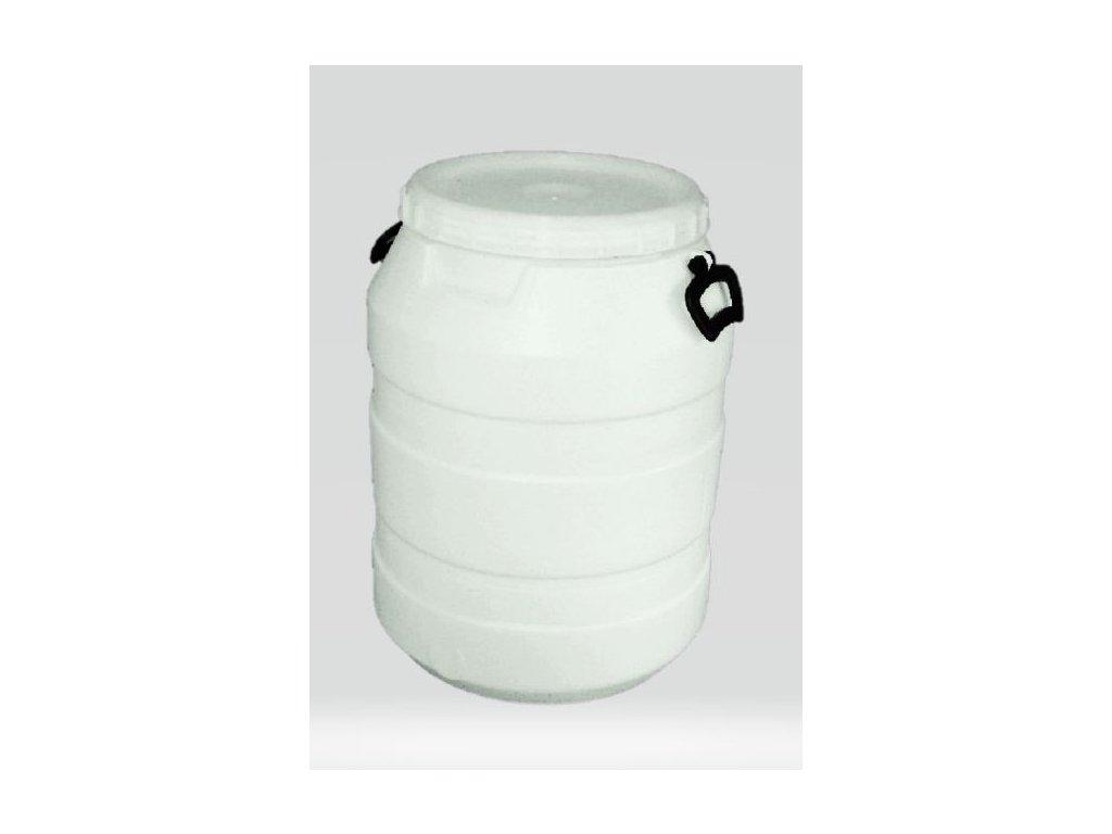Plastová káď 60L se šroubovacím víkem bílá