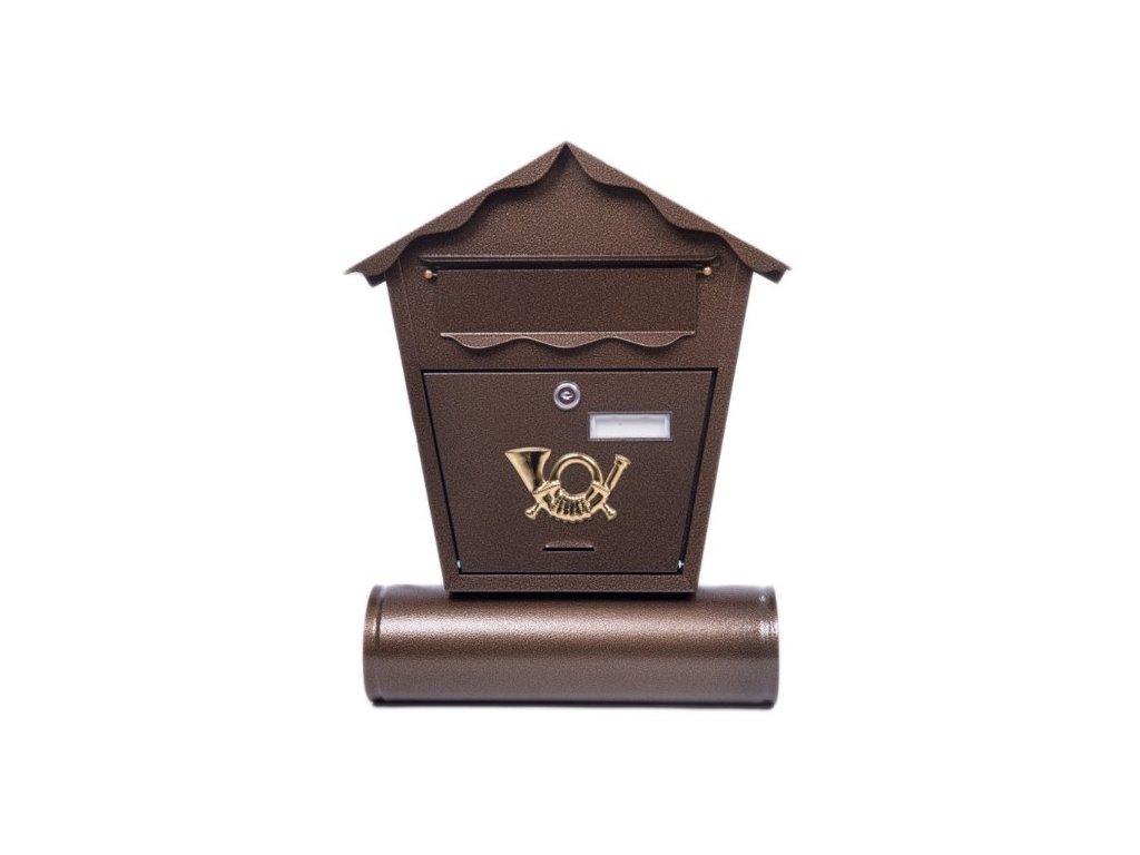 Poštovní schránka ST101 s tubou měď antik
