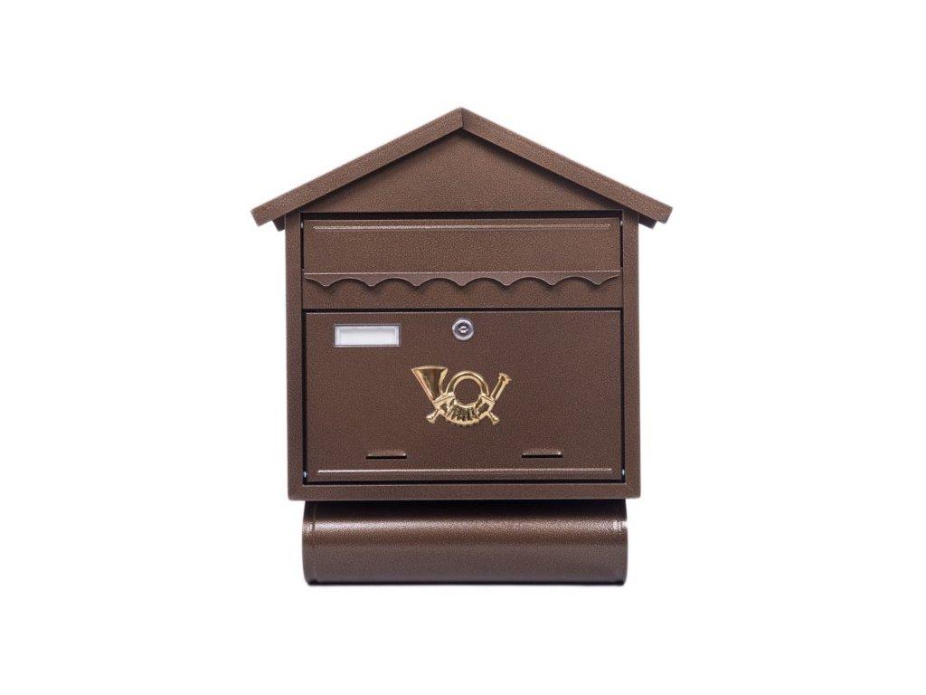 Poštovní schránka ST102 s tubou měď antik