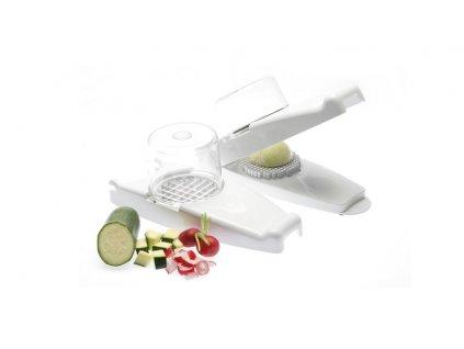 Kráječ velký na cibuli, ovoce, zeleninu, sada 5-dílná bílá