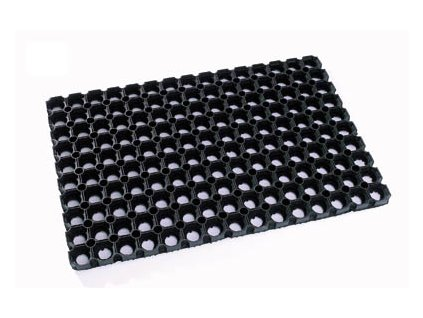 Rohož černá gumová 60x80cm
