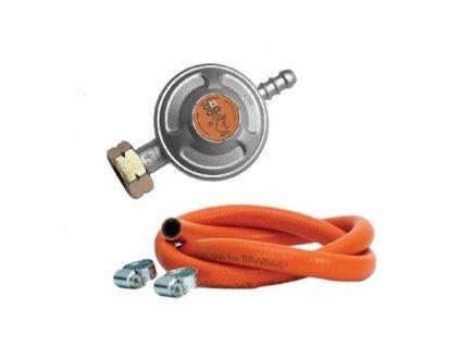 Plynový PB regulátor 30mbar - set, 80cm hadice, spony 10-16mm