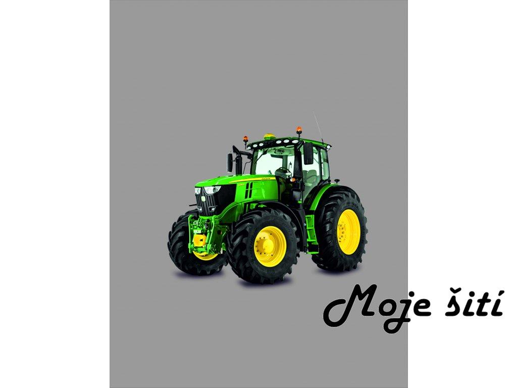 traktor zelený 50x65