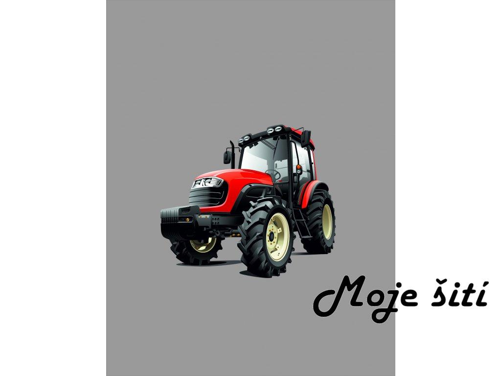 traktor červený 50x65
