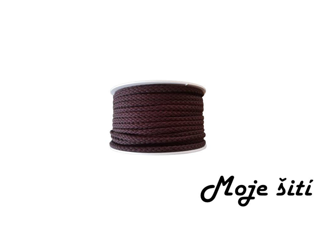 oděvní šnůra čokoládová hnědá
