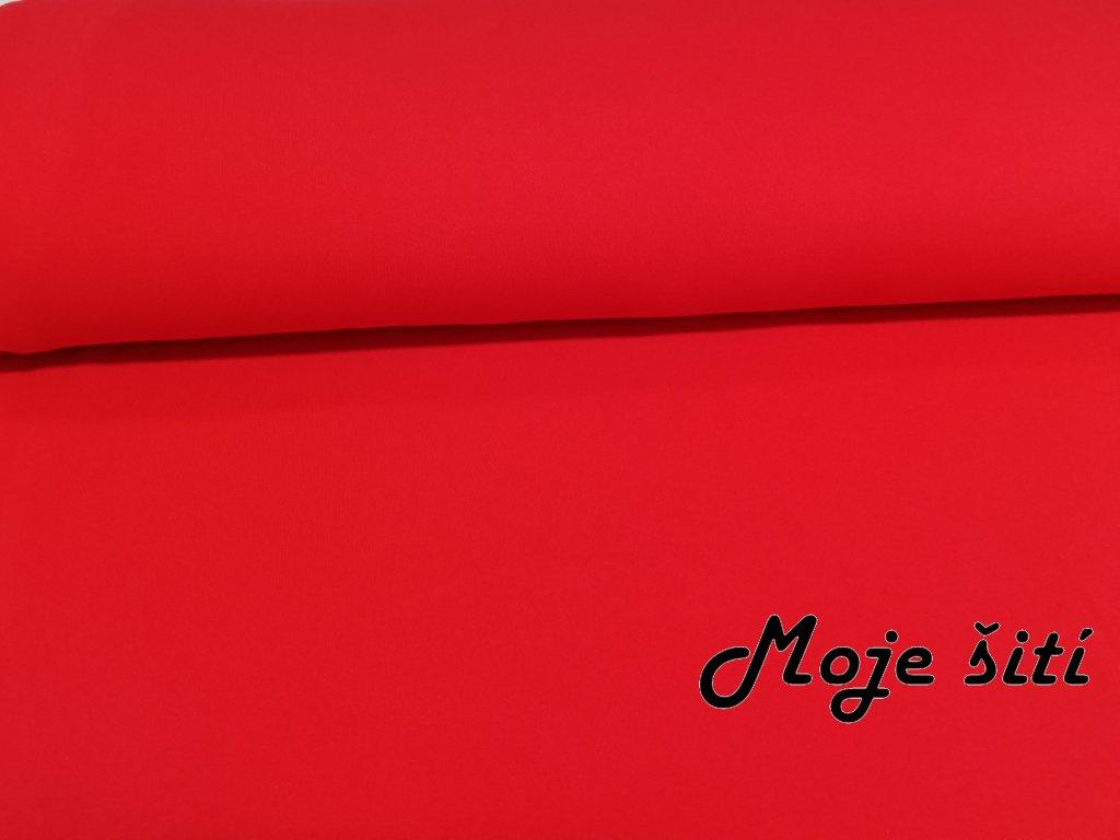 počesaná teplákovina červená (2)