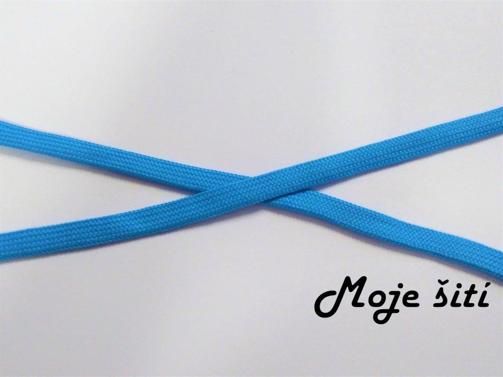 plocha snura bavlnena modra