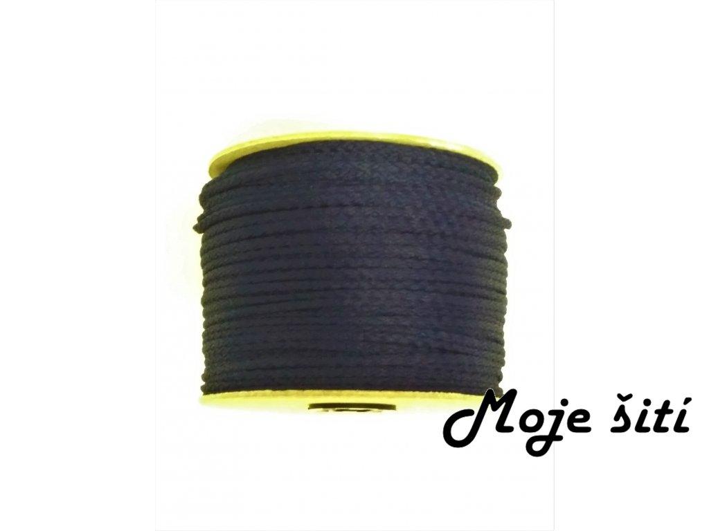 snura 4mm polyesterova parizska modr