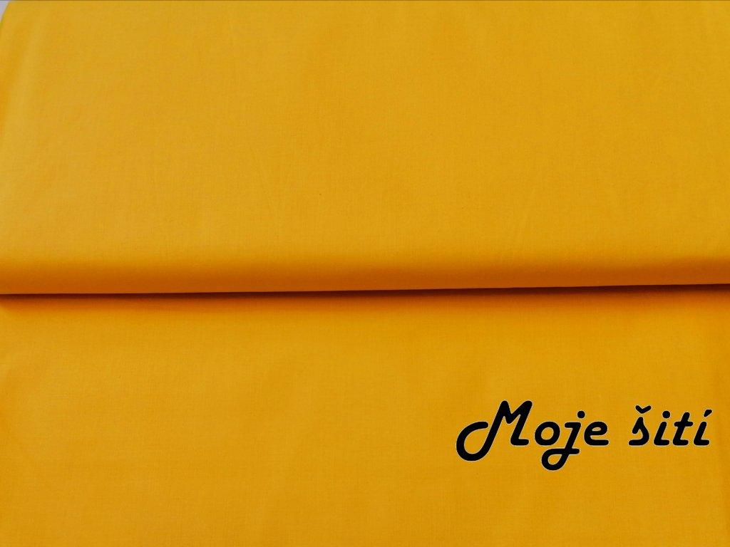 Bavlněné plátno Žlutá