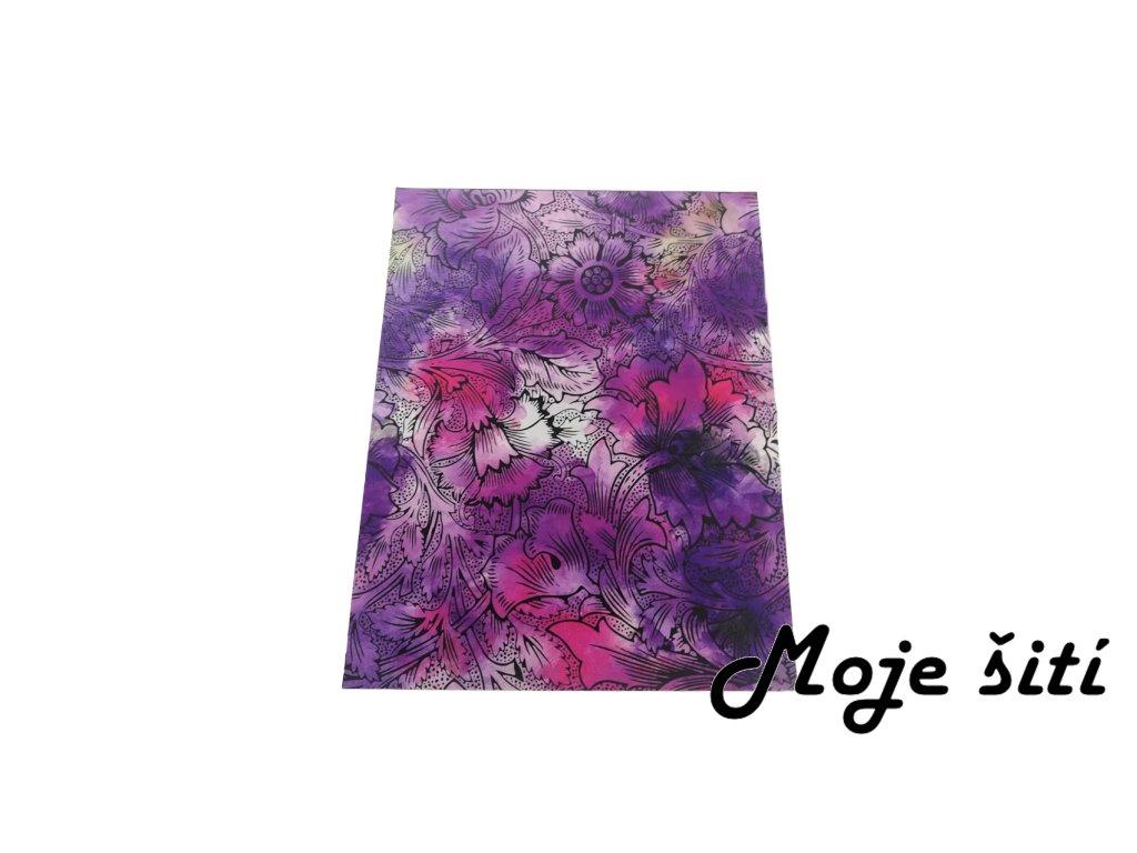 kocarkovina panel obrysy kvetu fialove
