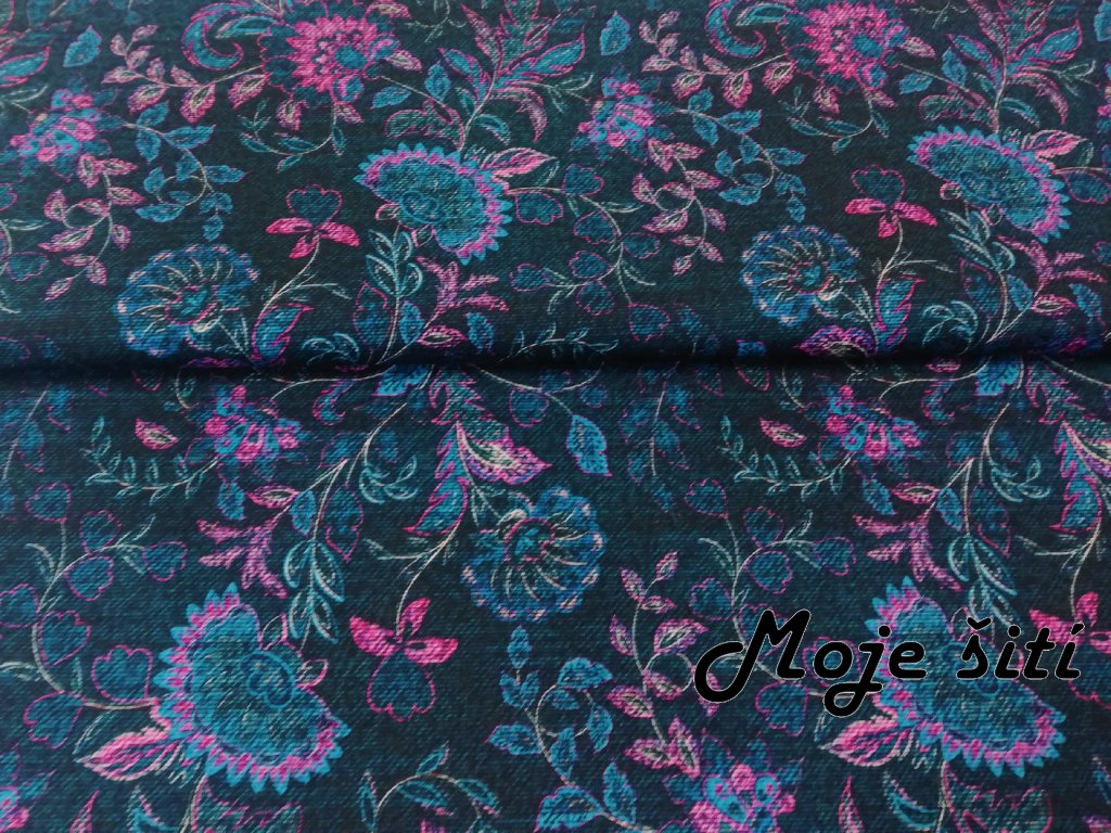 letni softshell kvety na jeans