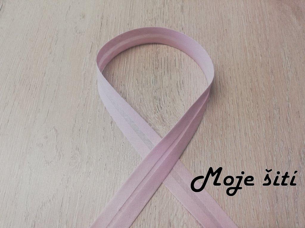 20mm Bavlna založený Světle růžový