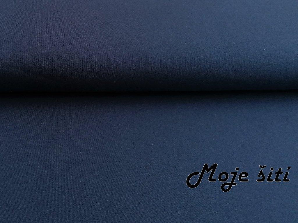 teplakovina s elastanem parizska modra