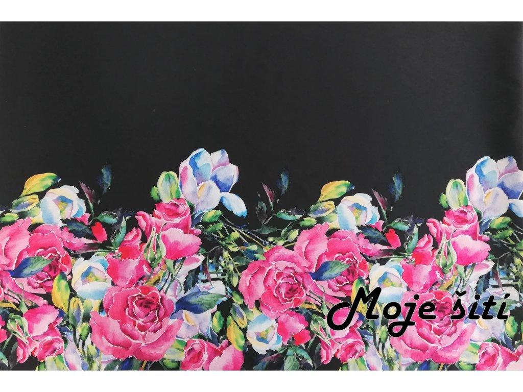 panel sportovni uplet akvarelove kvety